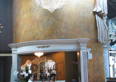 reception-area-with-a-chandelier